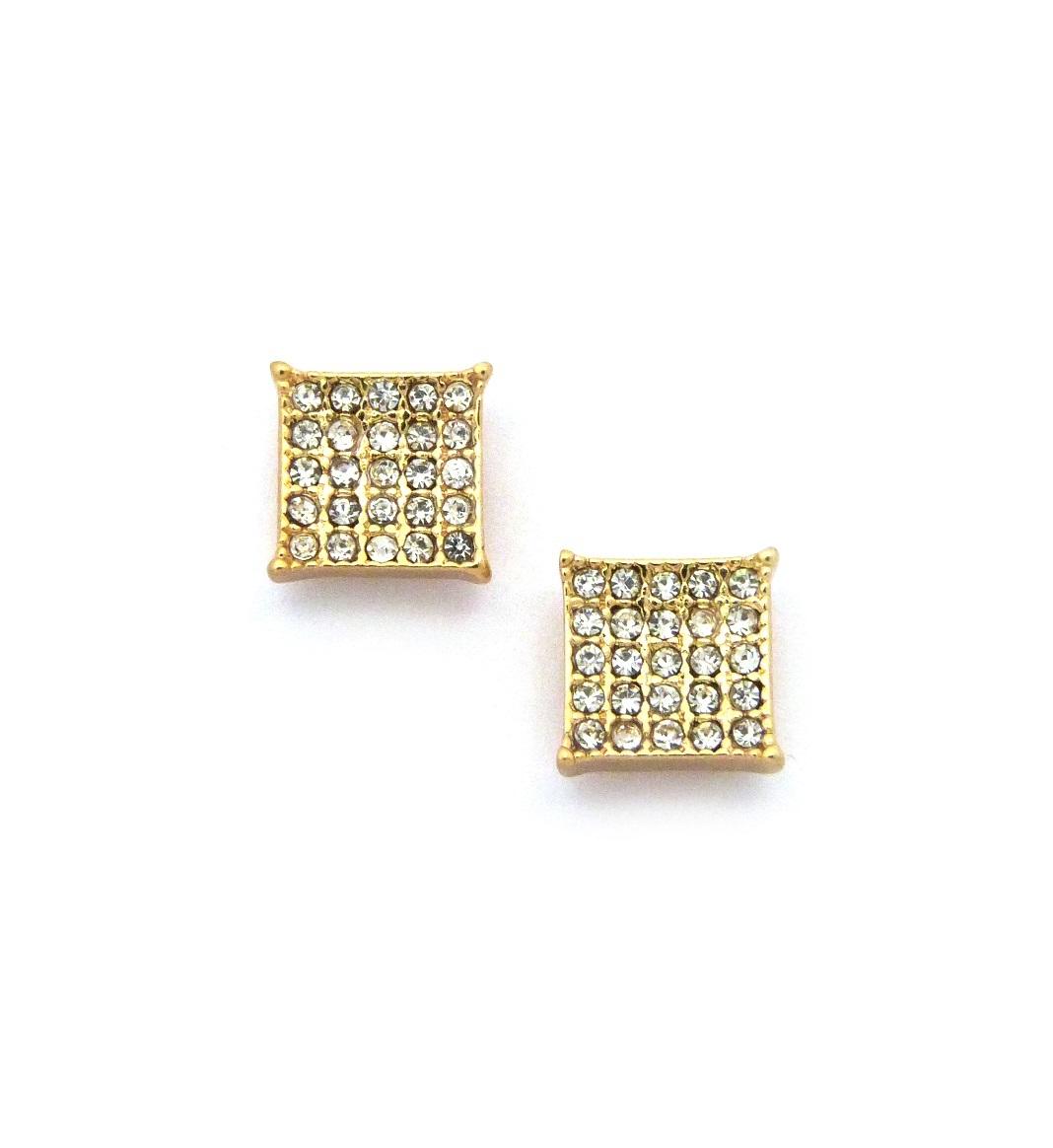3e47683e2fa1a Iced Out Kite Cut Diamond CZ Bling Earrings to Make a Fine Addition ...